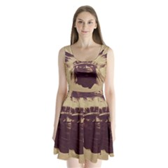 Indian Split Back Mini Dress