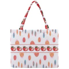 Strawberries Mini Tote Bag by SuperPatterns
