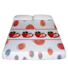 Strawberries Fitted Sheet (california King Size) by SuperPatterns