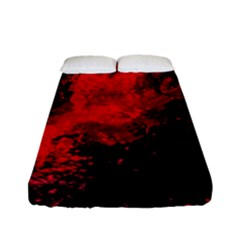 Red Smoke Fitted Sheet (full/ Double Size) by berwies