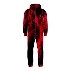 Red Smoke Hooded Jumpsuit (kids) by berwies