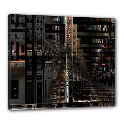 Blacktechnology Circuit Board Electronic Computer Canvas 24  X 20  by BangZart