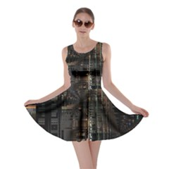 Blacktechnology Circuit Board Electronic Computer Skater Dress