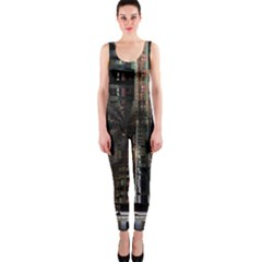 Blacktechnology Circuit Board Electronic Computer Onepiece Catsuit