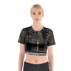 Blacktechnology Circuit Board Electronic Computer Cotton Crop Top