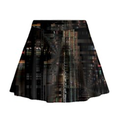 Blacktechnology Circuit Board Electronic Computer Mini Flare Skirt