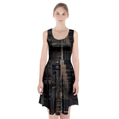 Blacktechnology Circuit Board Electronic Computer Racerback Midi Dress