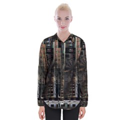 Blacktechnology Circuit Board Electronic Computer Womens Long Sleeve Shirt