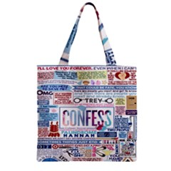 Book Collage Based On Confess Zipper Grocery Tote Bag