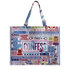Book Collage Based On Confess Zipper Mini Tote Bag