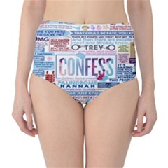 Book Collage Based On Confess High Waist Bikini Bottoms