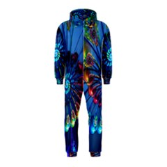 Top Peacock Feathers Hooded Jumpsuit (kids)