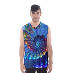 Top Peacock Feathers Men s Basketball Tank Top