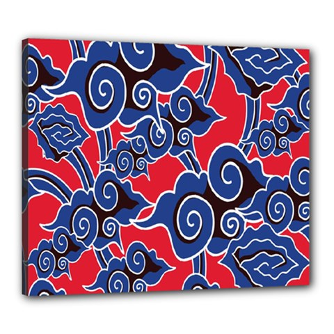Batik Background Vector Canvas 24  X 20  by BangZart