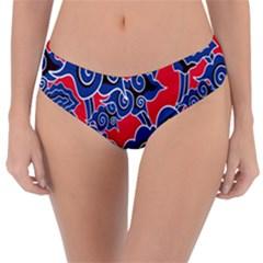 Batik Background Vector Reversible Classic Bikini Bottoms