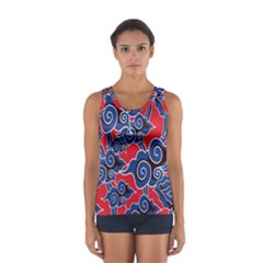Batik Background Vector Sport Tank Top