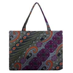 Batik Art Pattern  Medium Zipper Tote Bag