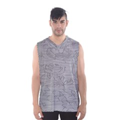 Embossed Rose Pattern Men s Basketball Tank Top