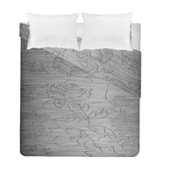 Embossed Rose Pattern Duvet Cover Double Side (full/ Double Size) by BangZart