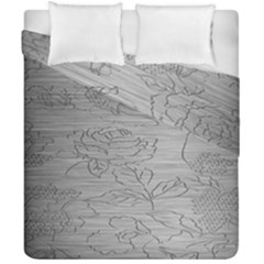 Embossed Rose Pattern Duvet Cover Double Side (california King Size) by BangZart