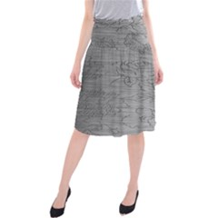 Embossed Rose Pattern Midi Beach Skirt