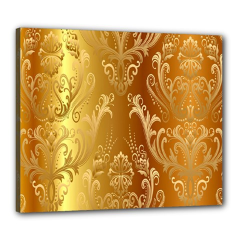 Golden Pattern Vintage Gradient Vector Canvas 24  X 20