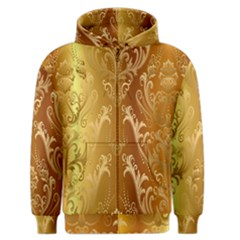 Golden Pattern Vintage Gradient Vector Men s Zipper Hoodie