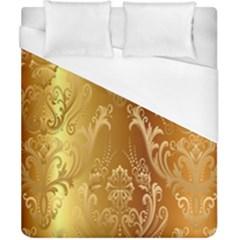 Golden Pattern Vintage Gradient Vector Duvet Cover (california King Size)