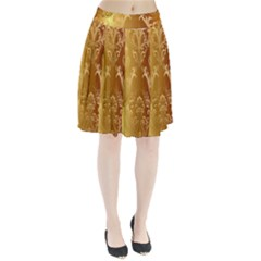 Golden Pattern Vintage Gradient Vector Pleated Skirt by BangZart
