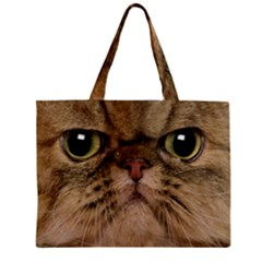 Cute Persian Catface In Closeup Zipper Mini Tote Bag by BangZart