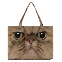 Cute Persian Catface In Closeup Medium Zipper Tote Bag