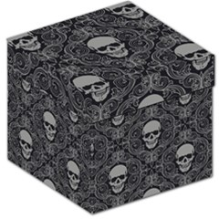 Dark Horror Skulls Pattern Storage Stool 12