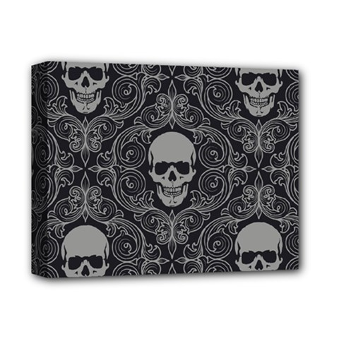 Dark Horror Skulls Pattern Deluxe Canvas 14  X 11  by BangZart