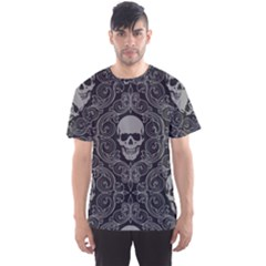 Dark Horror Skulls Pattern Men s Sports Mesh Tee