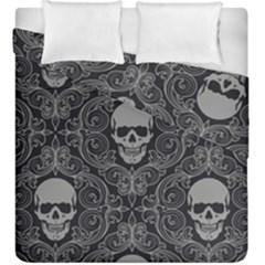 Dark Horror Skulls Pattern Duvet Cover Double Side (king Size) by BangZart