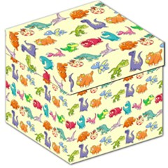 Group Of Funny Dinosaurs Graphic Storage Stool 12
