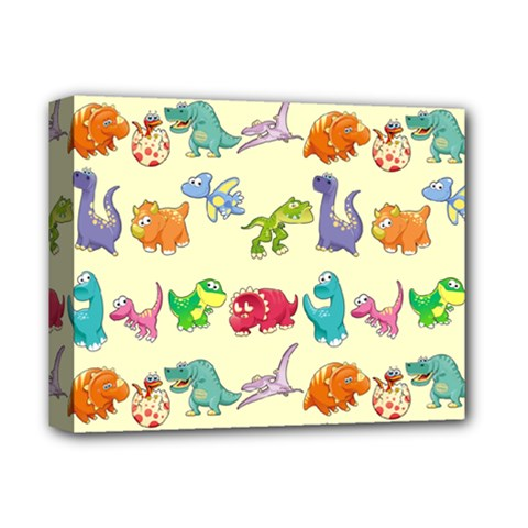 Group Of Funny Dinosaurs Graphic Deluxe Canvas 14  X 11  by BangZart
