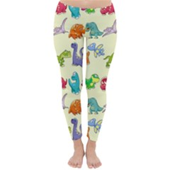 Group Of Funny Dinosaurs Graphic Classic Winter Leggings