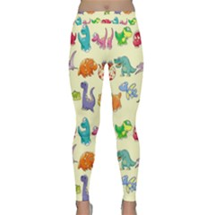 Group Of Funny Dinosaurs Graphic Classic Yoga Leggings by BangZart