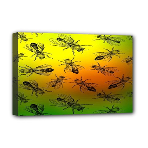 Insect Pattern Deluxe Canvas 18  X 12   by BangZart