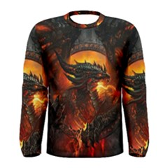 Dragon Legend Art Fire Digital Fantasy Men s Long Sleeve Tee