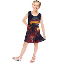 Dragon Legend Art Fire Digital Fantasy Kids  Tunic Dress