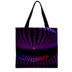 Glass Ball Texture Abstract Zipper Grocery Tote Bag