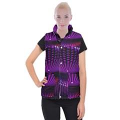 Glass Ball Texture Abstract Women s Button Up Puffer Vest