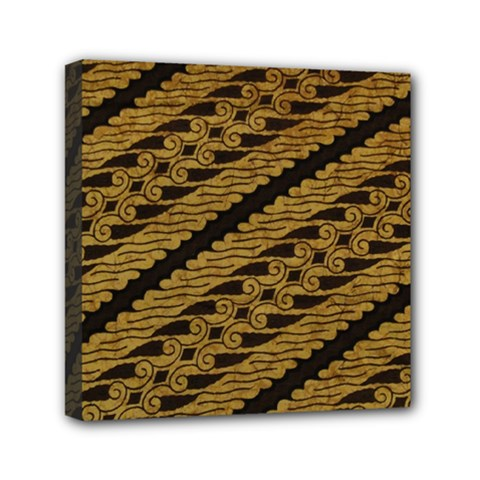 Traditional Art Indonesian Batik Mini Canvas 6  X 6