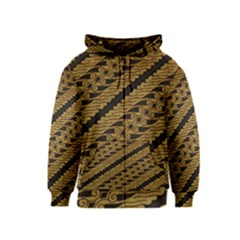 Traditional Art Indonesian Batik Kids  Zipper Hoodie