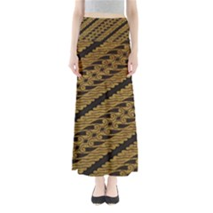 Traditional Art Indonesian Batik Full Length Maxi Skirt