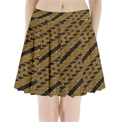 Traditional Art Indonesian Batik Pleated Mini Skirt by BangZart