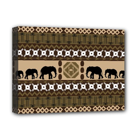 Elephant African Vector Pattern Deluxe Canvas 16  X 12
