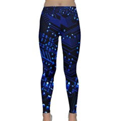 Blue Circuit Technology Image Classic Yoga Leggings by BangZart